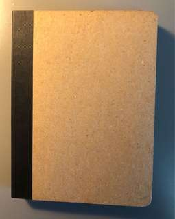 Brown paged bound notebook