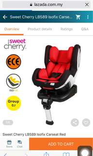 Car seat for rent