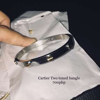 Cartier Two toned bangle
