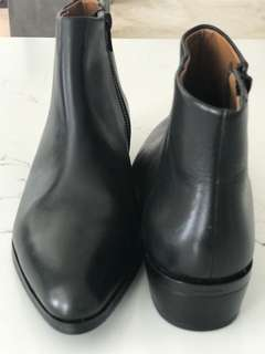 Leather  black ankle boots by coach size 8 B