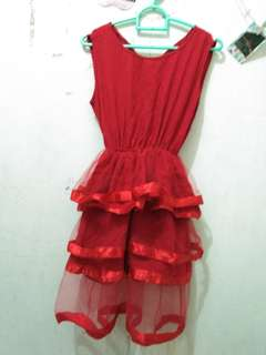 Dress red Furing