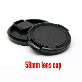 58mm Side-pinch Lens Cap - Free Posting