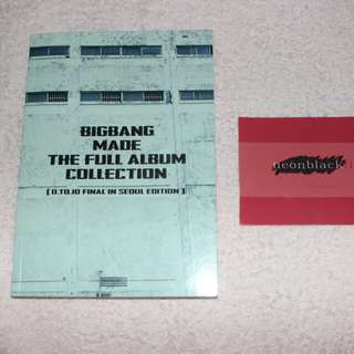 BIGBANG MADE THE FULL ALBUM COLLECTION /has minor damages /with freebies 500 php only