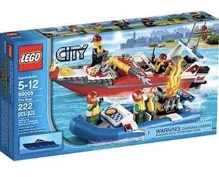 60005 Lego City Fire Boat BNIB