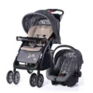 Santa Barbara ST796 Travel System Stroller (Grey)