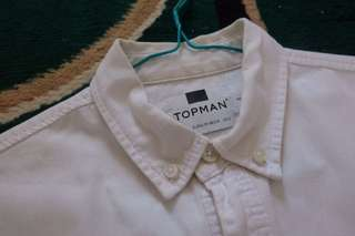 Topman white denim shirt