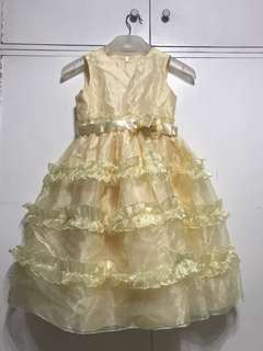 Mellow Yellow Ruffled Party Dress