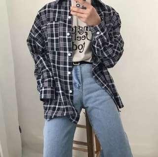 🚚 2hand復古格子襯衫