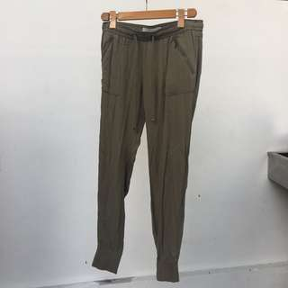 Bershka jogger army green pants