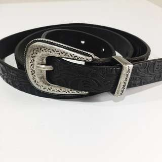 Massimo Dutti genuine leather Embossed belt
