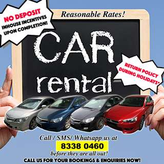 💥 NO DEPOSIT! 💥 Car Rental Leasing for U!💥💥