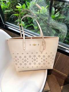 Coach City Tote Floral - white