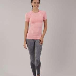 Gymshark seamless tshirt peach pink marl