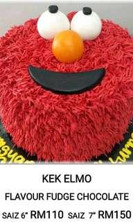 Elmo cake (choco fudge)