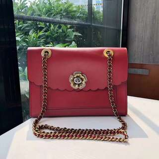 Coach Parker with tearose Turnlock - red