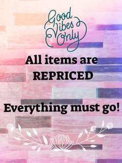 Sale!!! All items are REPRICED!!!