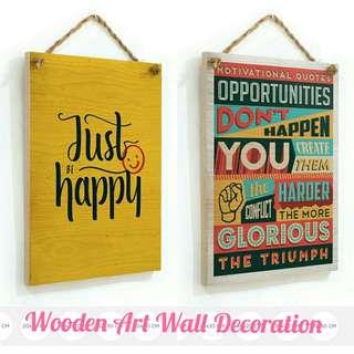 WOODEN ART WALL DECORATION