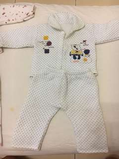 Infant Winter Pajamas - 4 sets