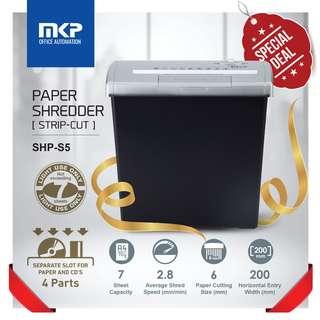 MKP Paper Shredder / Paper Cutting Machine Straight Cut SHP-S5 (7 sheets)