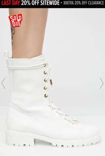 Dollskill shoe republic festival you're in charge combat boots