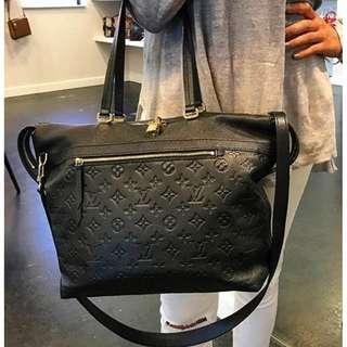 LOUIS VUITTON noir mono empreinte leather boetie bag (2016)