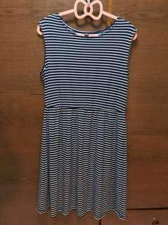 PL: Uniqlo Skater Dress Striped
