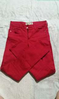 AUTHENTIC COTTON ON RED SKINNY JEANS