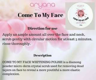 Aryana come to my face whitening polish