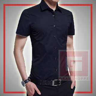 PLAIN MEN'S POLO (BLACK) 👕