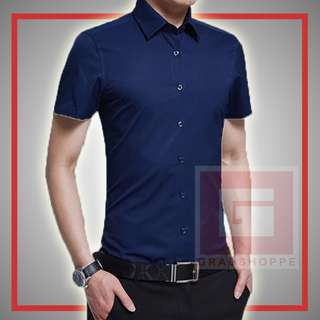 PLAIN MEN'S POLO (NAVY BLUE) 👕