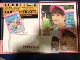 絕版 Wanna One 出道專 pink ver 智聖 尹智聖 jisung set