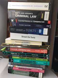 Year 1 and Year 2 Law Textbooks