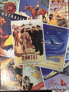 「飛機迷」Qantas Vintage Postcard Collect 85th Year