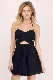 Black Cut Out Mini Dress from Tobi