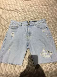 Lee Jean Shorts Ripped