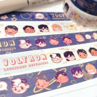 """Voltron washi tape """"Summer day and Night Skies#"""