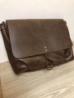 Satchel & Page Mailbag by genuine Italian Vegetable Tanned Leather