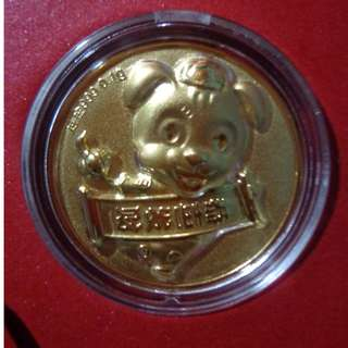 999 0.1g   gold coin Year of the dog