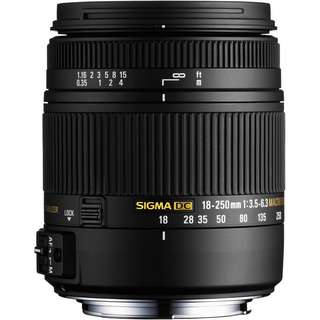 Sigma 18-250mm f/3.5-6.3 DC Macro OS HSM Lens