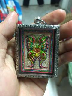 Thai Amulet-Kruba Krissana Thep Sampok Butterfly Amulet