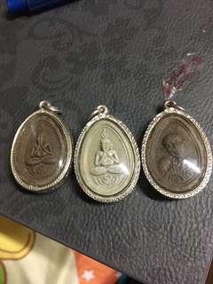 Thai Amulet-Kruba Inn 925 silver casing
