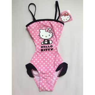 全新 夏季 HELLO KITTY 兒童 泳衣 粉紅色 波點 #513