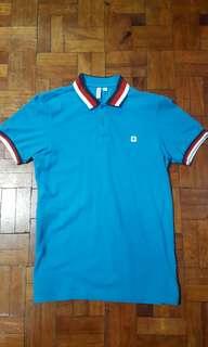 Mens Polo Shirt Original Cotton Red Blue Collared Small