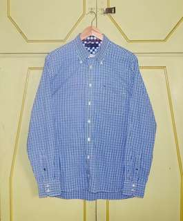 Authentic Tommy Hilfiger Multi Color Gingham LS Button Down