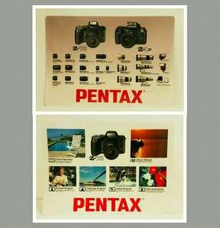 罕有菲林相機年代:绝版膠質Pentax 相機雙面海報 (非賣品) 曰本製造