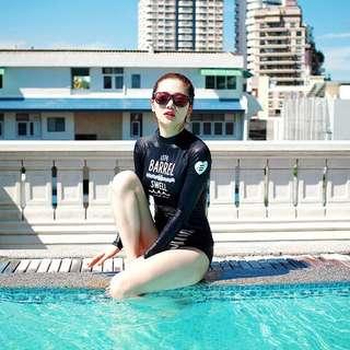 長袖泳衣 韓款泳衣 長袖泳衣 寬鬆泳衣 Bikini swimsuit swimwear 韓款泳衣 比基尼