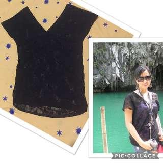 S-M Black Cover Top/Dress
