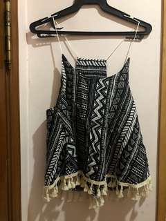 Short sleeve crop loose fit shirt