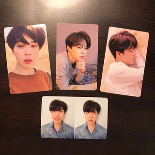 wtt bts love yourself : tear photocards