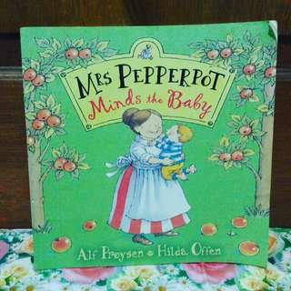 Mrs Pepperpot mind the baby